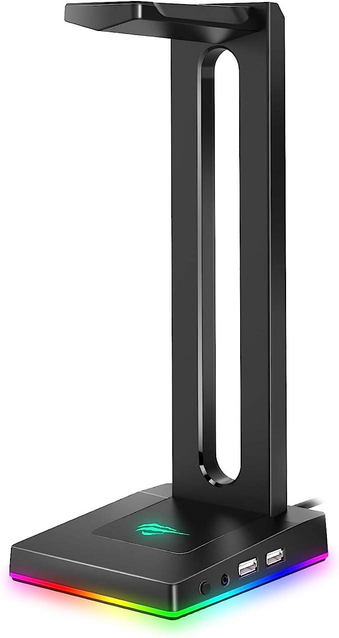 7628 opinioni per havit Porta Cuffie, Supporto per Cuffie RGB con hub USB a 2 Porte Supporto