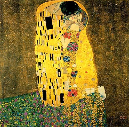 4Mybebe Diamond Painting 5D, Diamante Cuadrado Set de Arte, 40x50 cms Kit de Arte Decoracion 5D Diamond Painting,Pinturas Obras Famosas de Arte Clasico (El Beso Gustav Klimt)
