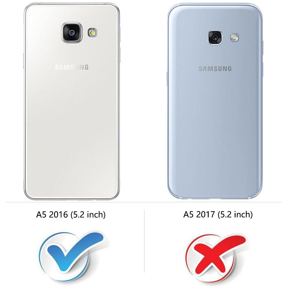 MOBESV Smiley Funda Cartera Samsung Galaxy A5 2016, Funda Cuero ...
