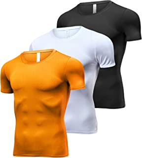 a09aab31e2b Lavento Men s Compression Shirts Cool Dry Short-Sleeve Workout Undershirts
