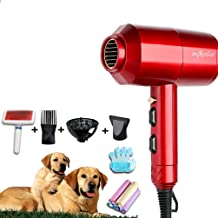 ANYWN Pet Dryer Dog Cat Hair Dryer Blower Professional, Grooming Professional 4HP Dog Dryer with Heating, for Large Small Pets Dogs Cats, Variable Speed,Red