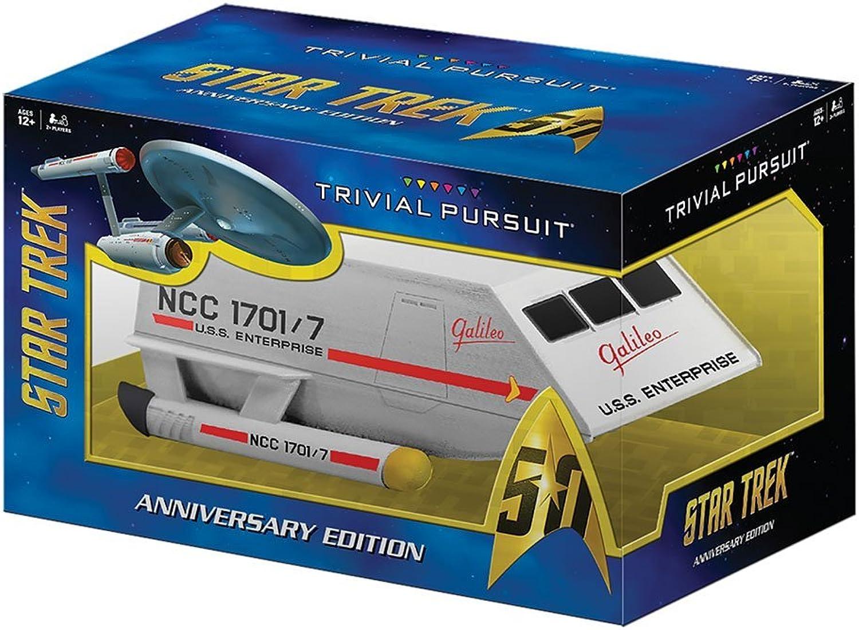 Entrega gratuita y rápida disponible. TRIVIAL PURSUIT Estrella Trek Trek Trek 50th Anniversary Edition Juego by USAopoly  clásico atemporal