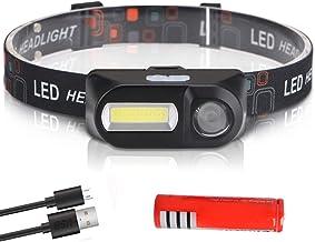 Hoofdlamp superheldere led-koplamp, led-koplamp, zaklamp, lantaarnlamp, hoofdlicht, gebruik batterij voor camping B