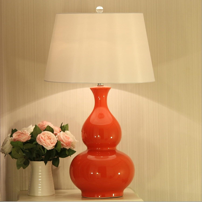 ZSFWY Keramik-Kürbis-Tischlampe Modernes einfaches Wohnzimmer Schlafzimmer Nachttischlampe Personalisiertes Hotel Hotel Hotel Tischlampe Schalttaste Schalter E27 Lichtquelle Zweifarbig Optional (Farbe   rot) B07JFM2RZT     | Verschiedene Stile  a29a71
