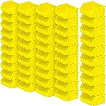 FolderSys Classic - Cajas de almacenaje (50 unidades, 95/65 x 100 x 50 mm, 0,3 L), color amarillo