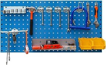 WH-IOE Panel para Herramientas de Metal Panel Pegboard Metal Control de Pared Pegboard 45cm 90 X El Espacio de Almacenamie...