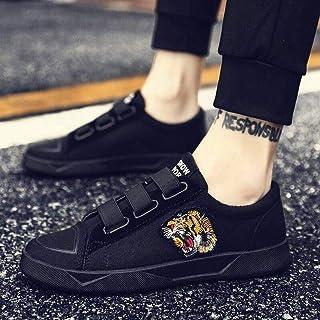 黄贝玲 社会夏季板鞋小伙网红韩版男士精神男鞋子学生帆布鞋运动休闲布鞋