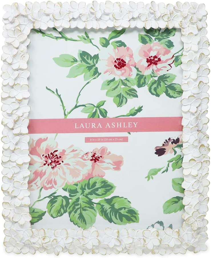 Laura Ashley Sales 8x10 White Gold Philadelphia Mall Flower Textured Resi Hand-Crafted