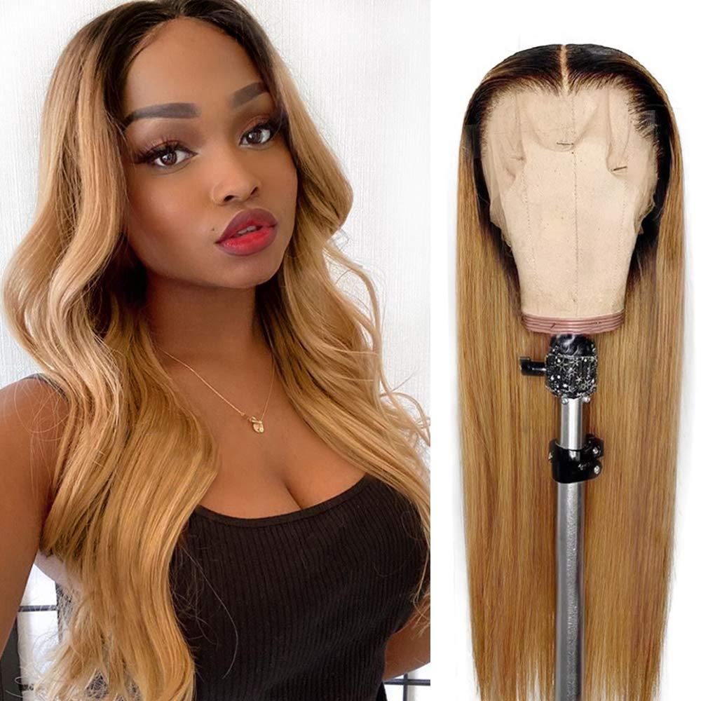半額 格安 Ombre Human Hair Lace Front Wigs 13x4 Deep Frontal Part Wig