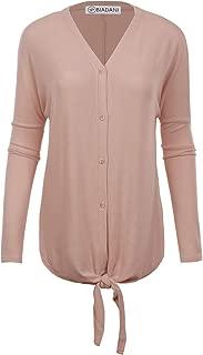BIADANI Women Button Down Long Sleeve Basic Soft Knit Cardigan Sweater