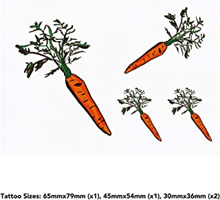 4 x 'Carrot' Temporary Tattoos (TO00032889)