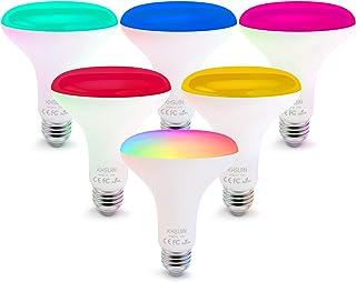 Smart Bulbs,6 Pack Alexa Light Bulbs with RGB Color Changing,2.4G WiFi Bulbs 13W BR30 Led Bulbs with E26/E27 Base,No Hub Required,Smart Light Bulb Compatible with Alexa and Google Home