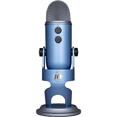 Blue Yeti USB Microphone for PC & Mac, Gaming, Podcast and Streaming Microphone, 10 Year Anniversary Edition with Custom Finish & Multiple Pickup Patterns