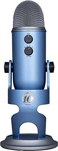 Blue Yeti 10-Year Anniversary Edition USB Microphone with Custom Finish & Multiple Pickup Patterns for Recording and ...