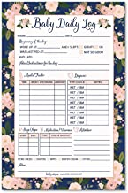 Nanny Newborn Baby or Toddler Log Tracker Journal Book, Daily Schedule Feeding Food Sleep Naps Activity Diaper Change Monitor Notes For Daycare, Babysitter, Caregiver, Infants and Babies, 50 Sheet Pad