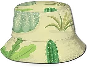 LHleiping Printed Bucket Hat, Fisherman Sun Hats for Men Women Girls Boys Cactus in The Desert