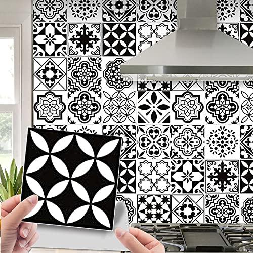 Adhesivo de azulejos, diseño de mosaico, 64 piezas, 10 x 10 cm