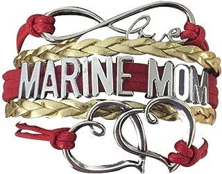 US Marine Corps Mom Bracelet, Proud Marine Mom Charm Bracelet - Makes Perfect Mom Gifts