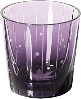 江戸切子 立菱縞紋 冷酒杯(江戸紫)TB99352M 木箱入り 太武朗工房直販 日本製