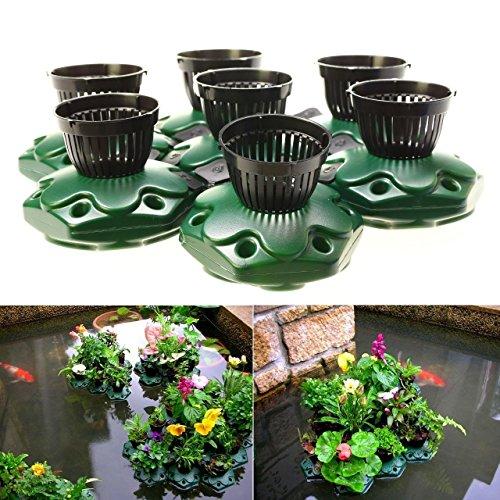 7pcs Aquaponics Floating Pond Planter Basket Kit - Hydroponic Island Gardens by Aquarium Supplies