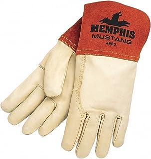 Seguridad MCR 4950l Mustang Premium grano vaca MIG/TIG soldador guantes de hombre, con