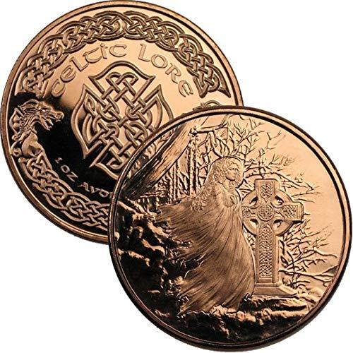 Jig Pro Shop Celtic Lore Series 1 oz .999 Pure Copper Round/Challenge Coin (Banshee)