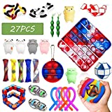Qabfwe Sensory Fidget Toys Set, 27Pcs Stress Relief and Anti-Anxiety Tools Bundle for Kids and Adults(Style B)