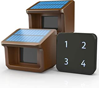 1/2Mile Solar Driveway Alarm System-Up to 70FT Wide Sensor Range 3 Adjustable Sensitivities-Fully Weatherproof Outdoor Mot...