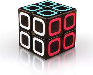 LEEEC Speed Cube (2 x 2 x 2) pussel magisk kub (slät struktur)