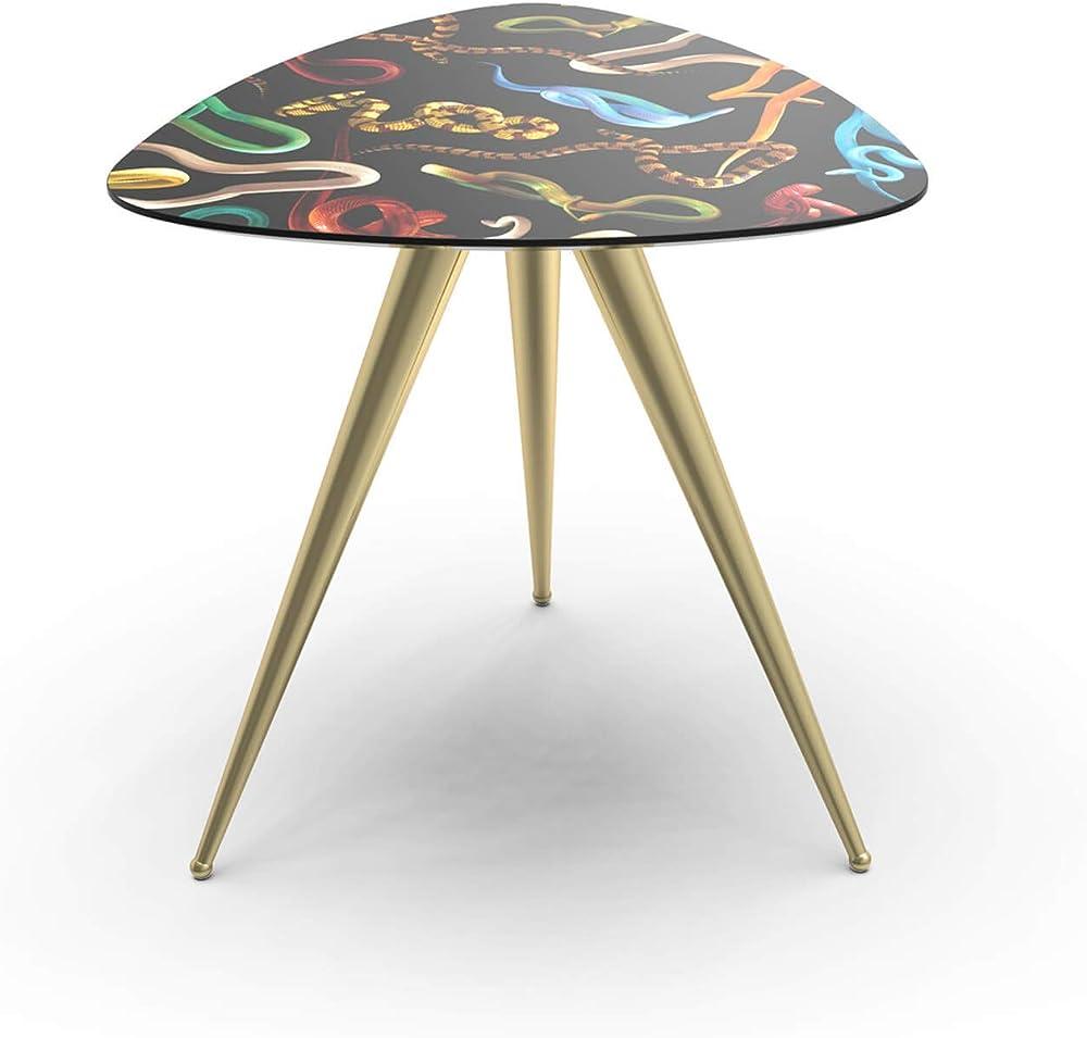 Seletti wears toiletpaper side table, snake,in mdf. metallo DM13792