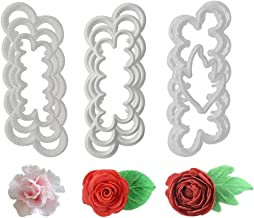 Fondant Icing Tool, 9Pcs Roses Carnations Peony 3D Petal Cake Cutter Flower DIY Baking Accessories