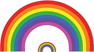 Star Cutouts Ltd Rainbow Cardboard Cut out Party Scene Decoration Cartón Arco Iris Recortado decoración de la Escena del P...