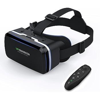 Occhiali VR With Telecomando Compatibile con tutti gli Smartphone come Galaxy, Android, Huawei, da 4,7 a 6,0 Pollici