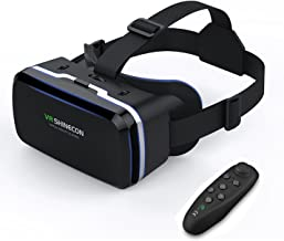 VR Gafas de Realidad Virtual, Gafas vr Con Control Remoto , para Juegos Visión Panorámico Immersivo para iPh X/7/ 7plus /6s 6/plus, Galaxy s8/ s7 con pantalla de 4,7 a 6,0 pulgadas (GL04)