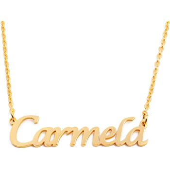 Kigu Antonia Custom Name Necklace Personalized 18ct Rose Gold Plated
