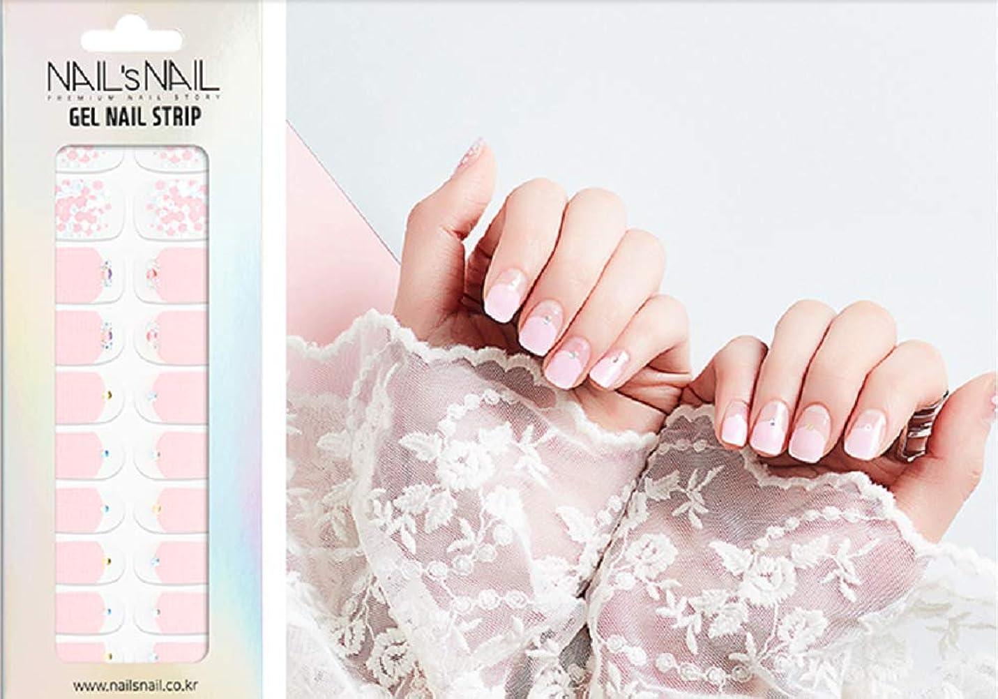 戻す攻撃的努力\貼るジェルネイル/Nail's Nail(ネイルスネイル) ジェルネイルストリップ 55