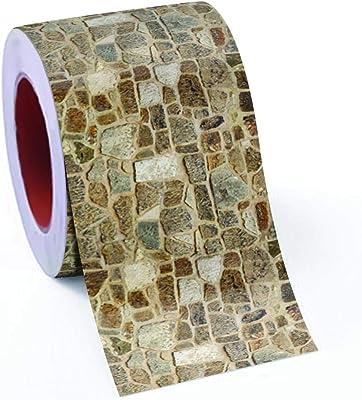 100yellow® Stone Design Oil Proof & Waterproof Self Adhesive Tiles Sticker, 48 X 16 Inch