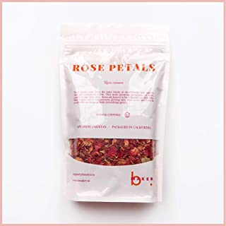 bMAKER Dried Rose Buds& Petals Red - 1 Pound Edible Flowers - Use in Tea, Baking, Making Rose Water, Crafting, Wedding Con...