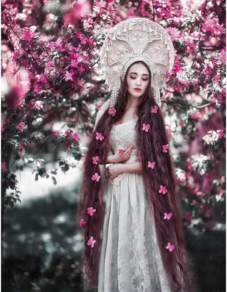 Diamond Painting Kit Beautiful Woman Flowers DIY Nashville-Davidson Mall for Art Popular brand