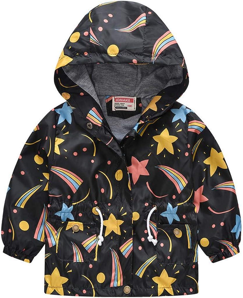 Baby Cheap sale Girl Kid Floral Boston Mall Hooded Outwear Windbreak Coat Jacket Zipper