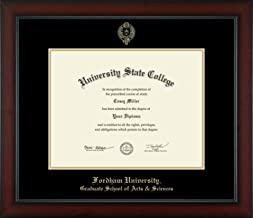 Fordham University Graduate School of Arts & Sciences - Officially Licensed - Gold Embossed Diploma Frame - Diploma Size 13