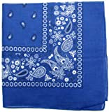 Kaiser Novelty Bandanas Paisley Cotton Bandanas (Royal Blue 22 X 22 in)