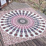 AUNMAS Mandala Colgante de Pared de Estilo Bohemio Floral Ropa de Cama Tapiz Hippie Arte de la Pared decoración Piso Manta de Picnic (1#)