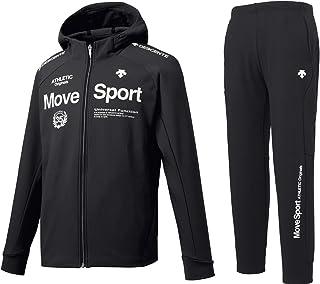 (デサント)DESCENTE Move Sport TOUGH ACTIVE SUITS フード付きスウェットジャケット・パンツ上下セット DMMOJF26/DMMOJG26 裏起毛フリース フルジップパーカー ジャージ