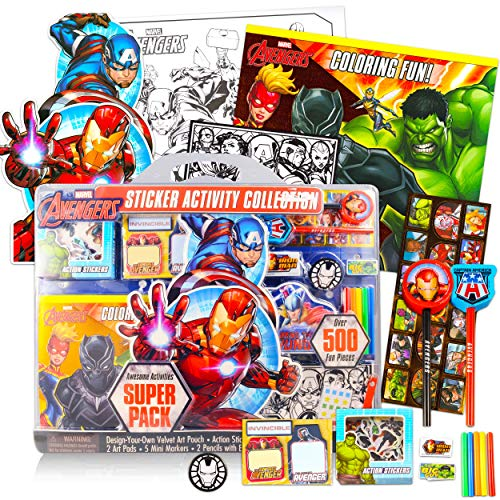 Marvel Avengers Activity Set for Kids - Ultimate Superhero Arts and Crafts Bundle with Activity Book, Pads, Stickers, and More