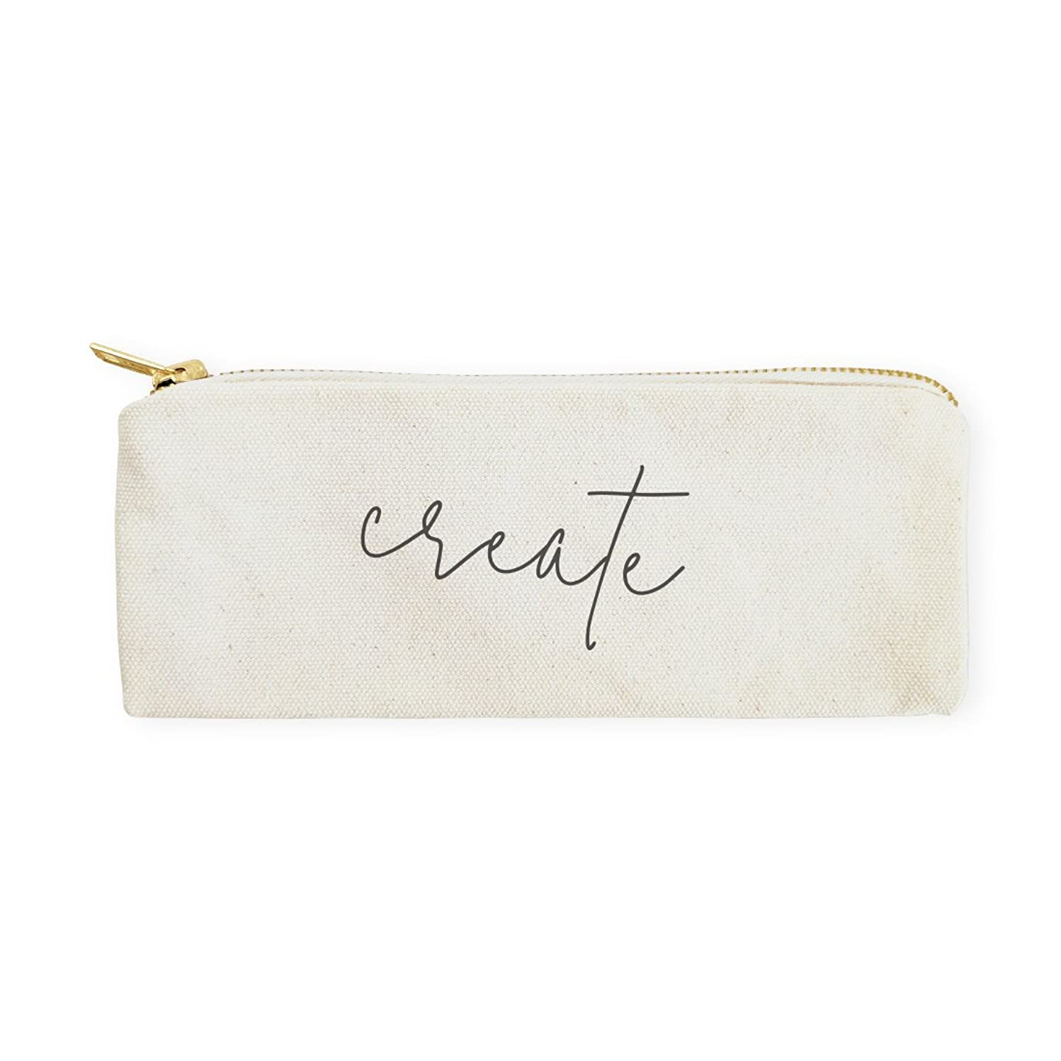 The Cotton & Canvas Co. Create Pencil Case, Cosmetic Case and Travel Pouch for Office and Back to School
