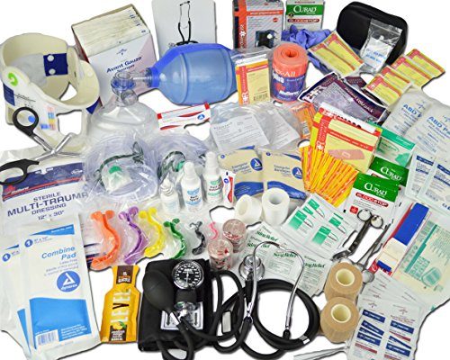 Lightning X Deluxe Stocked Medical EMS First Aid Responder Trauma EMT Fill Kit C