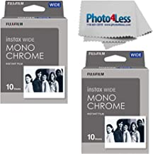 Fujifilm Instax Wide Monochrome Instant Film X2 (20 Exposures) + Cleaning Cloth - Top Value Bundle