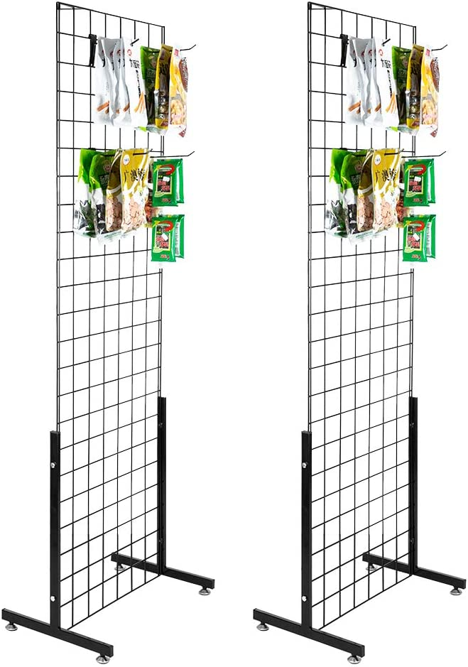 Max 84% OFF Bonnlo 6' x 2' Wire Grid Panel T-Base Tower Floorstanding with Cheap SALE Start
