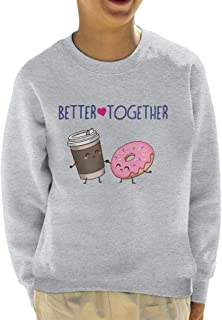 Cloud City 7 Better Together Coffee and Doughnuts Kid's Sweatshirt